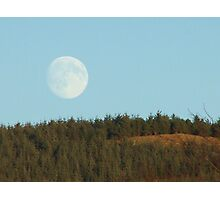 St Andrews Day moon rising Photographic Print