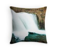 Silky Torrent Throw Pillow