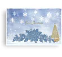 MY MERRY BLUE CHRISTMAS! Canvas Print