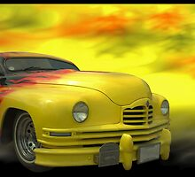 """1950 Packard Low Rider Custom """"The Flame Thrower""""  by TeeMack"""