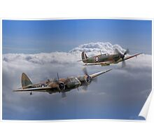 Spitfire And Blenheim Duxford  2015 - 3 Poster