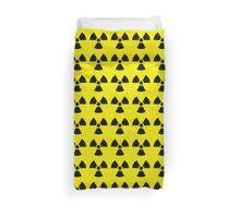 Nuclear bomb danger funny sign Duvet Cover