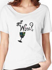 got wine? retro  Women's Relaxed Fit T-Shirt