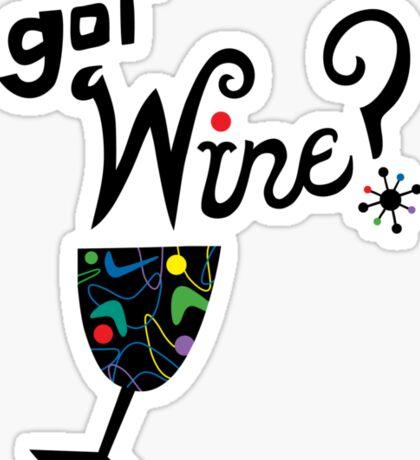 got wine? retro  Sticker