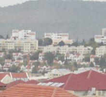 a historic Israel landscape Sticker