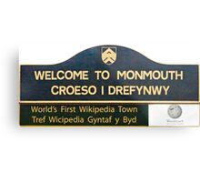 Welcome to Monmouth Metal Print