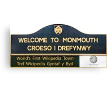 Welcome to Monmouth Canvas Print