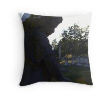 Gazing Cemetery Cherub Throw Pillow