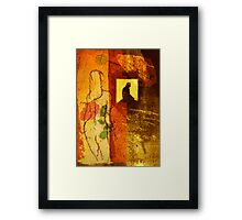 the window Framed Print