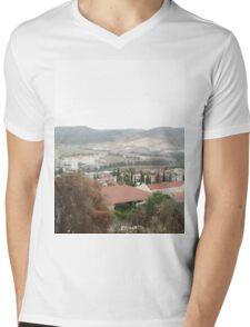 a large Israel landscape Mens V-Neck T-Shirt