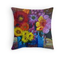 Flowers from my Mind Throw Pillow