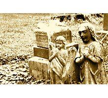 Praying Gravestone Angels Photographic Print