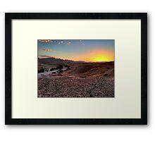 a sprawling Israel landscape Framed Print