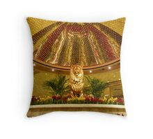 Las Vegas Lion Throw Pillow