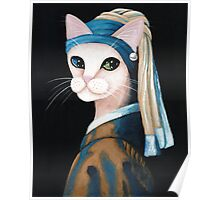 The Cat With the Pearl Earring Poster