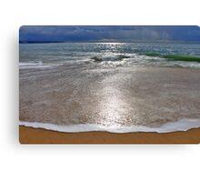 the moon landed on the beach.... Canvas Print