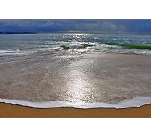 the moon landed on the beach.... Photographic Print