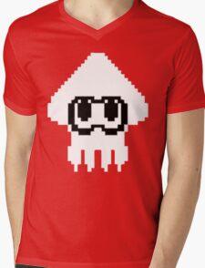 Splatoon Squid 8Bit Mens V-Neck T-Shirt