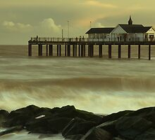 Winter sea, Southwold by Rick  Senley