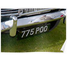 Number plate - Duxford, UK  Poster