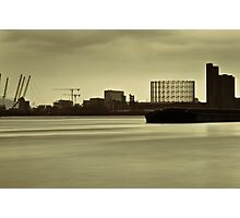 River Thames in winter at Greenwich Photographic Print