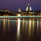 The Thames and St Paul's at night by Rick  Senley