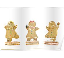Three Gingerbread Cookies Poster