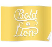 Bold as a Lion. Poster