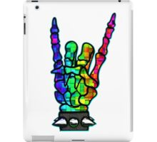 HEAVY METAL HAND SIGN - rainbow cubes iPad Case/Skin