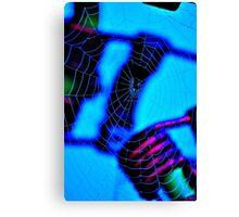 'Blue Web' Canvas Print