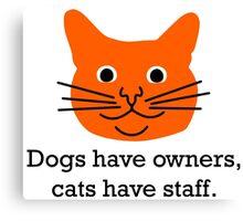 Cat staff Canvas Print