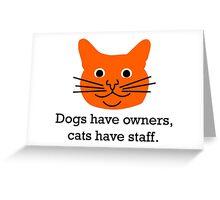 Cat staff Greeting Card