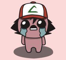 The Binding Of Isaac/Pokémon Crossover - Ash Ketchum (Kanto) Kids Tee