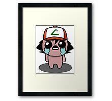 The Binding Of Isaac/Pokémon Crossover - Ash Ketchum (Kanto) Framed Print