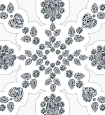 Valentine Snowflake Sticker