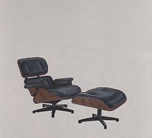 Eames Lounge Chair & Ottoman by chelsgus