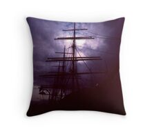 Pirate Ship at Port Throw Pillow