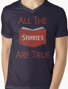 All The Stories Are True Shadowhunters City of Bones Cassandra Clare Quote Typography Mens V-Neck T-Shirt