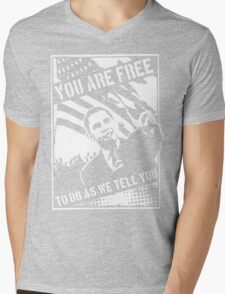 You Are Free, To Do As We Tell You Mens V-Neck T-Shirt