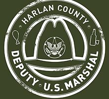 Harlan County US Deputy Marshal Badge Grunge by godgeeki