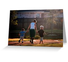 A Walk With Aunt Sanna Greeting Card