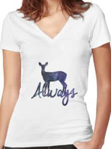 Always - Harry Potter Women's Fitted V-Neck T-Shirt