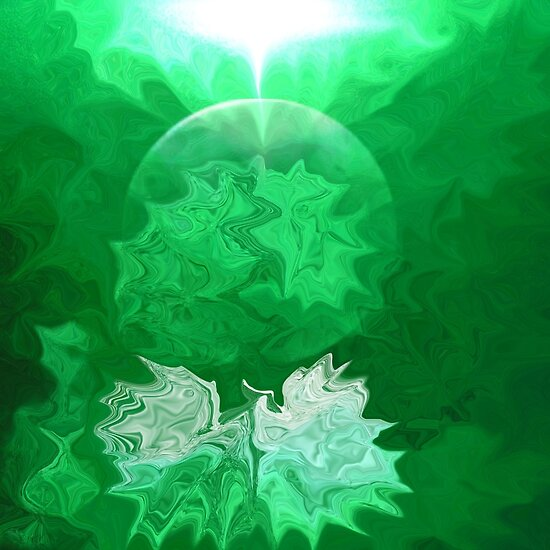 Green Light Abstract-  Art + Products Design  by haya1812