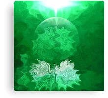 Green Light Abstract-  Art + Products Design  Canvas Print