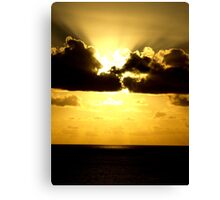 Sunset over the Caribbean  Canvas Print