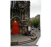 Edinburgh Door Poster