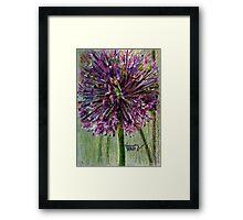 Ilium,purple Globe flower Framed Print