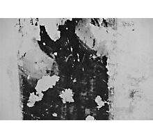 The black and white wallpaper remnants Photographic Print
