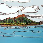 Diamond Head, Hawai'i by RedPine