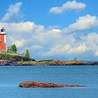 Eagle Harbor Lighthouse I by Mark Bolen